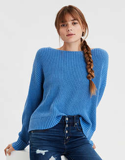 AE Lace Up Pullover Sweater