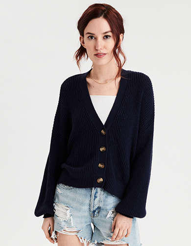 AE Slouchy Button Up Cardigan