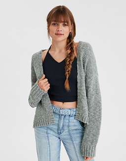 AE Open Front Cropped Cardigan