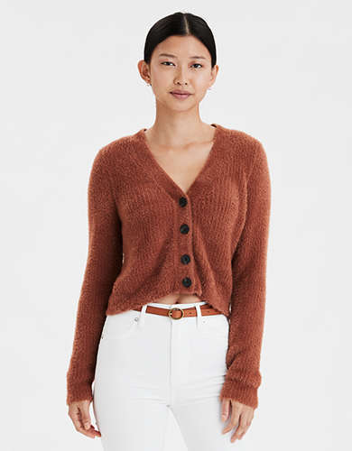 AE Eyelash Cropped Cardigan