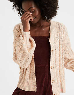 AE Cable Cropped Cardigan