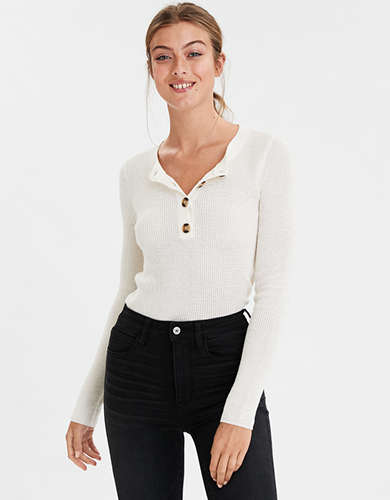 AE Henley Bodycon Sweater