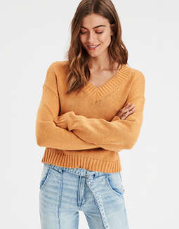 AE Slouchy V-Neck Pullover Sweater