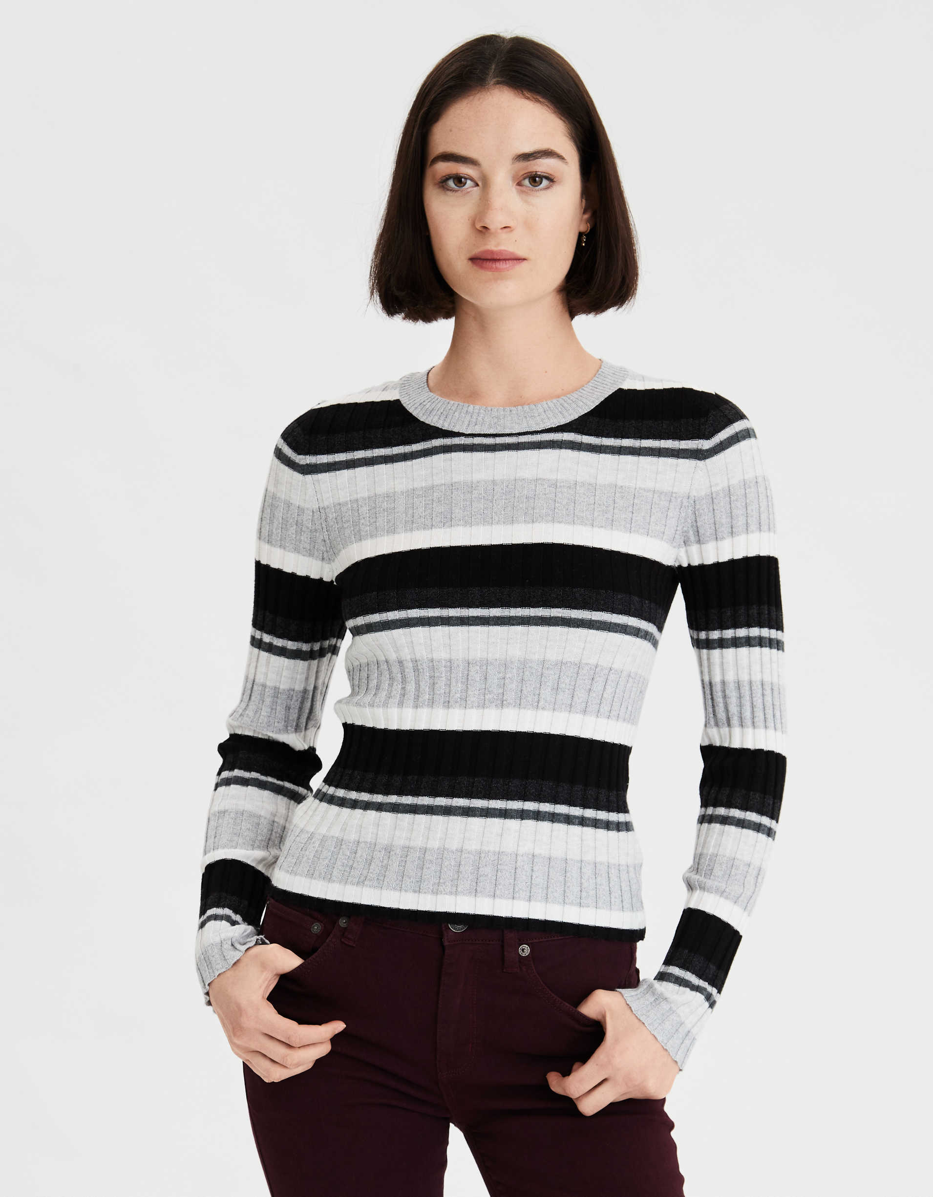 AE Crew Neck Bodycon Sweater