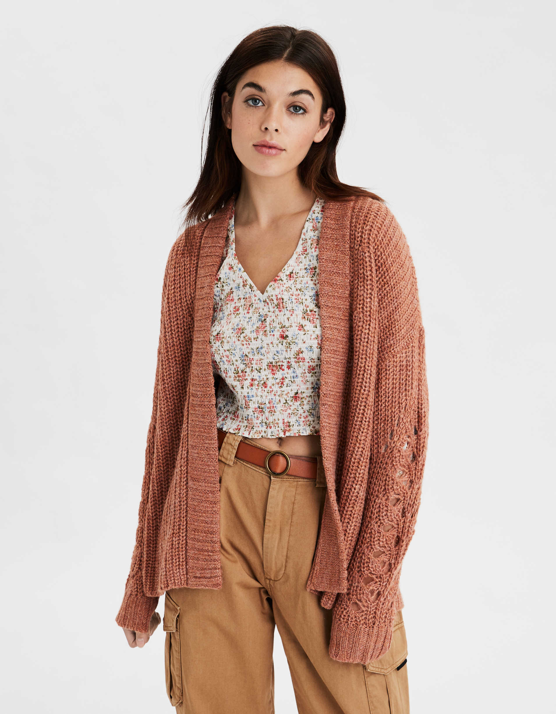 AE Open Front Oversized Cardigan
