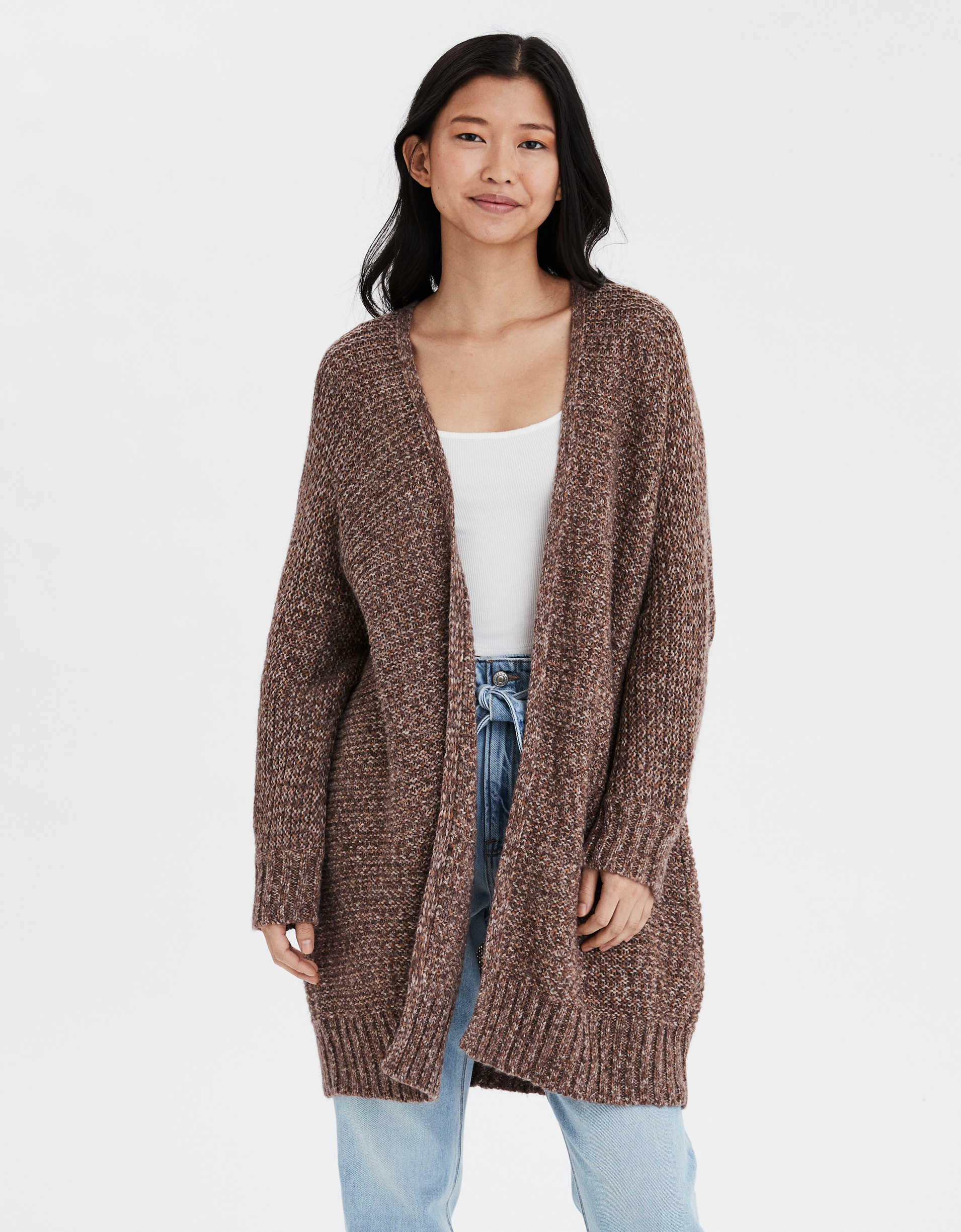 AE Open Front Long Cardigan