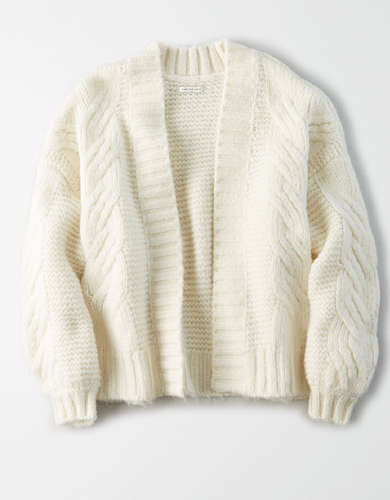AE Chunky Cable Knit Cardigan
