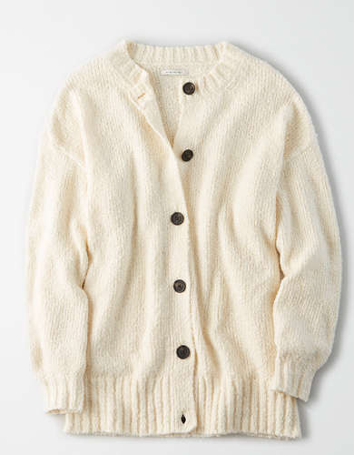 AE Oversized Crew Neck Cardigan