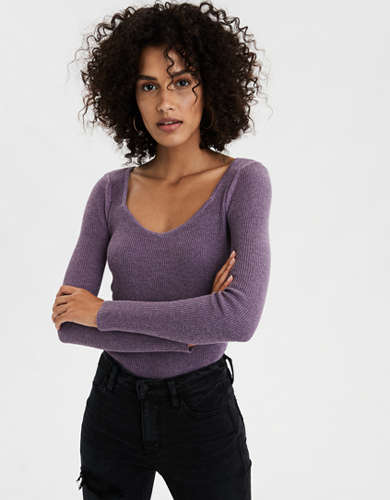 AE Scoop Neck Bodycon Sweater