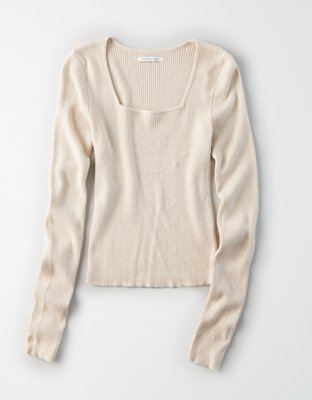 Ae Square Neck Pullover Sweater by American Eagle Outfitters