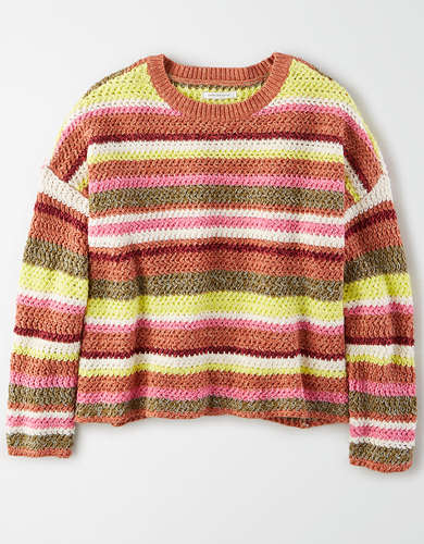 AE Striped Crew Neck Sweater