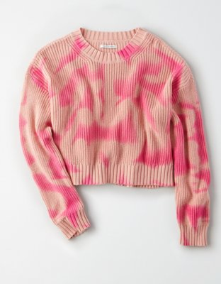 Ae Tie Dye Cropped Pullover Sweater by American Eagle Outfitters