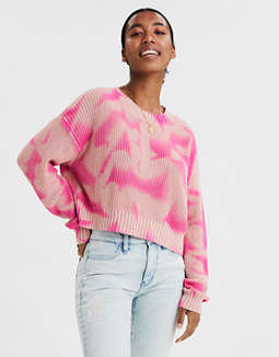 AE Boxy Cropped Crew Neck Sweater