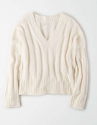 AE Ribbed V-Neck Sweater