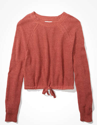 AE Cinched Crew Neck Sweater