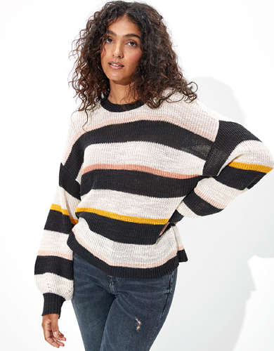 AE Balloon Sleeve Cropped Sweater