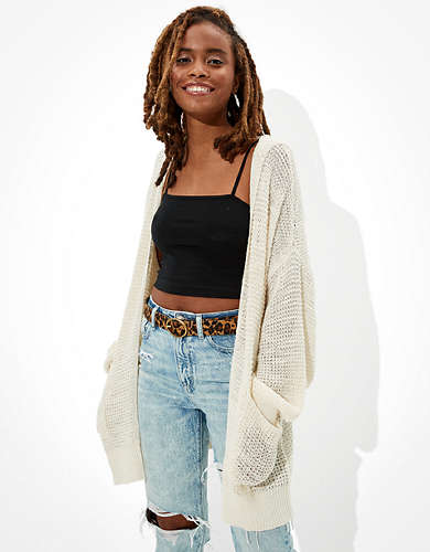AE Oversized Hooded Cardigan