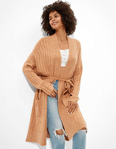 AE Oversized Dreamspun Belted Cardigan