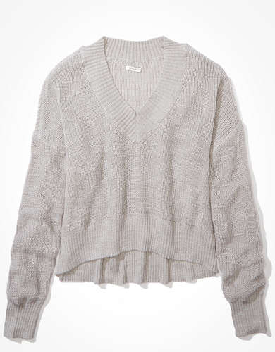 AE V-Neck Cropped Sweater