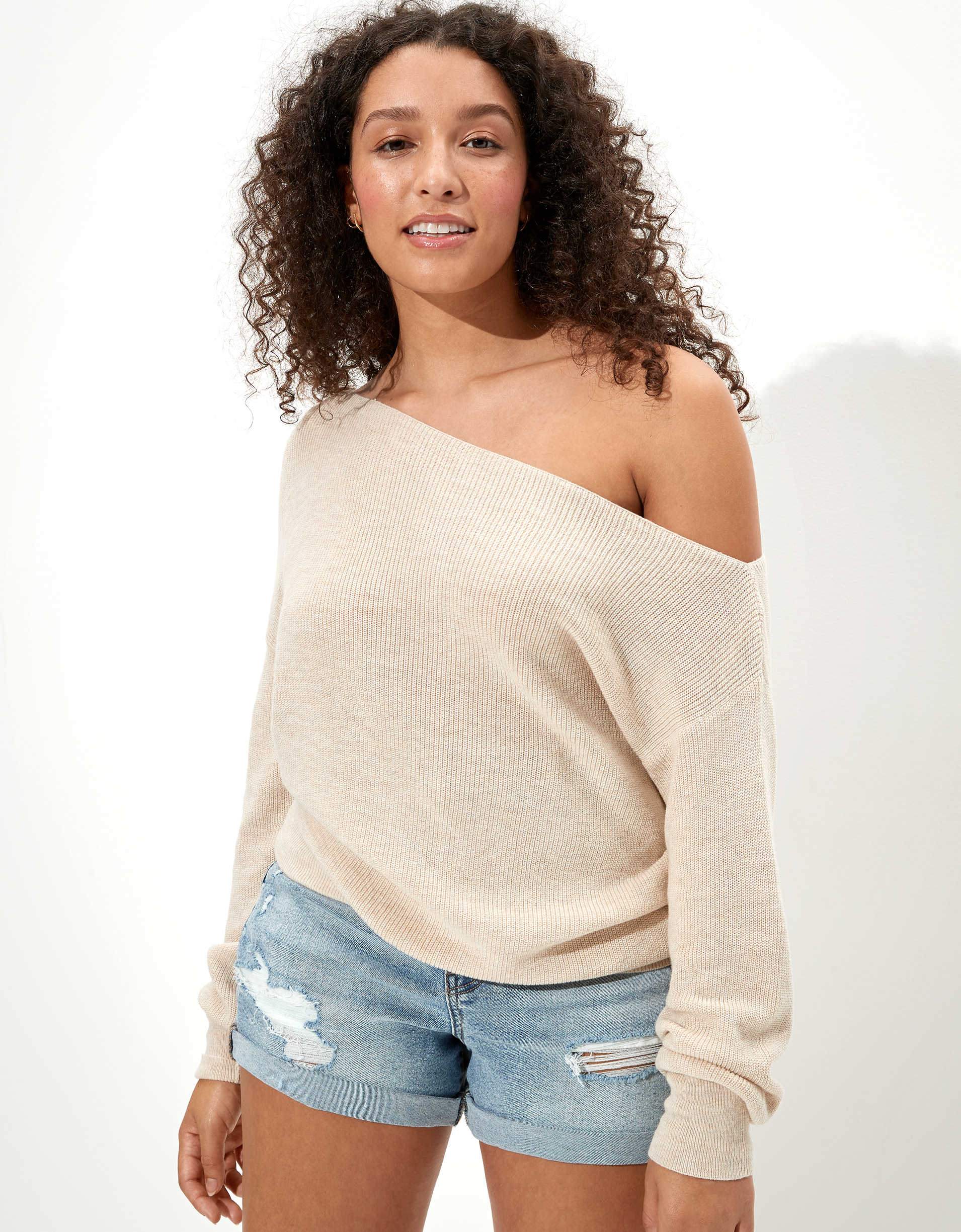 AE Oversized Off-The-Shoulder Sweater