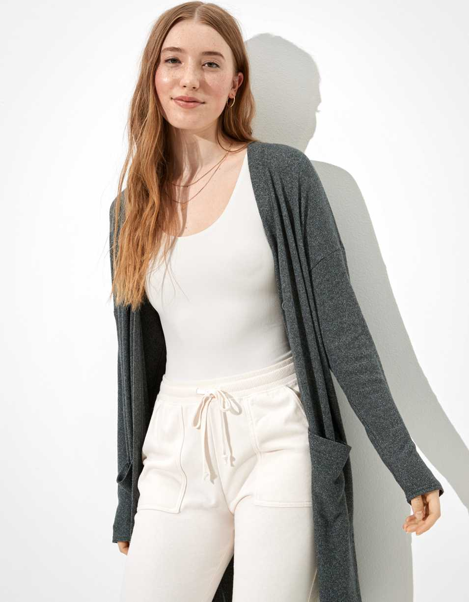 AE Plush Oversized Cardigan