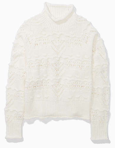 AE Fringe Turtleneck Sweater