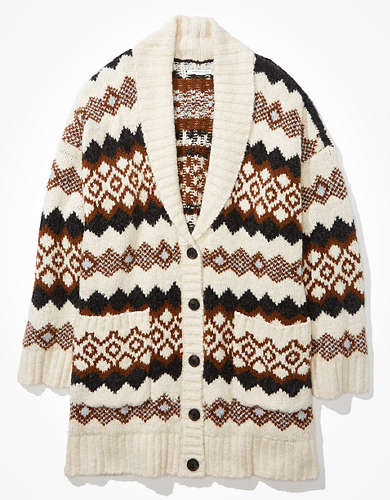 AE Oversized Fairisle Cardigan