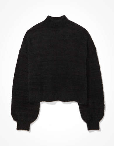 AE Eyelash Mock Neck Sweater
