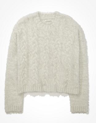 AE Eyelash Cable Knit Sweater
