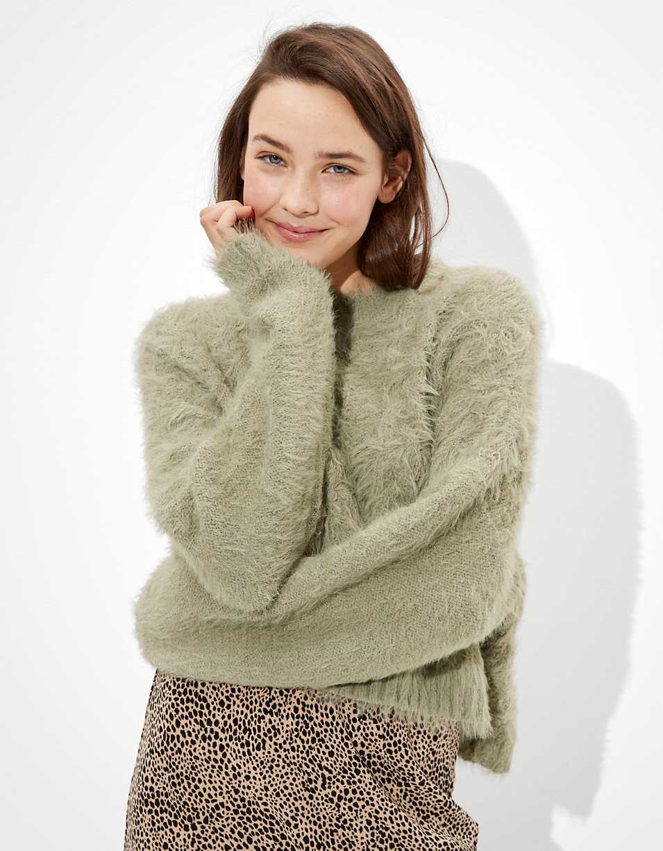AE Eyelash Cable Knit Sweater