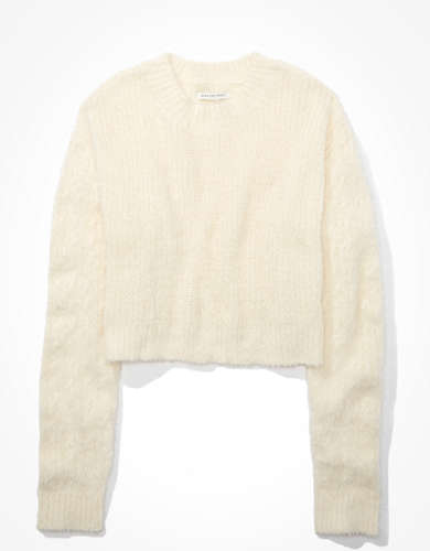 AE Cropped Eyelash Sweater