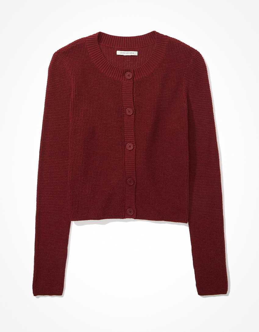 AE Cropped Button-Up Cardigan