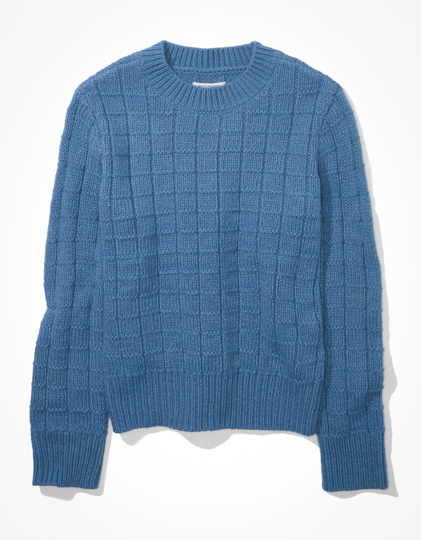 AE Waffle Crew Neck Sweater