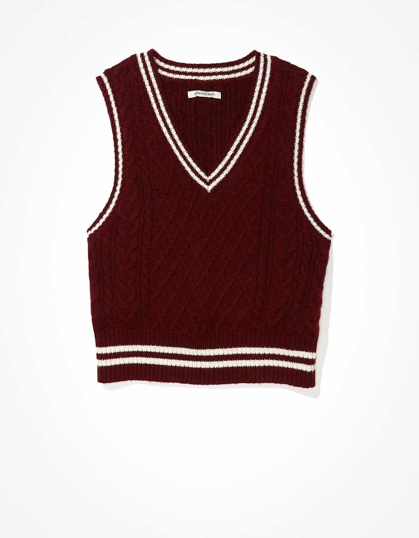 AE Cable Knit Sweater Vest