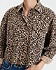AE Leopard Cropped Button Up Shirt