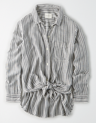 AE Tie Front Button-Up Shirt