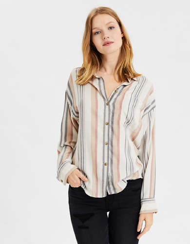 AE Striped Button Up Shirt