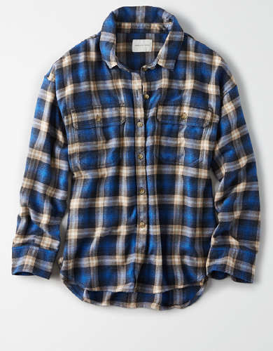 AE Plaid Button Up Shirt