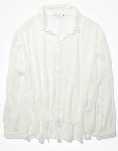 AE Ruffled Button Up Shirt