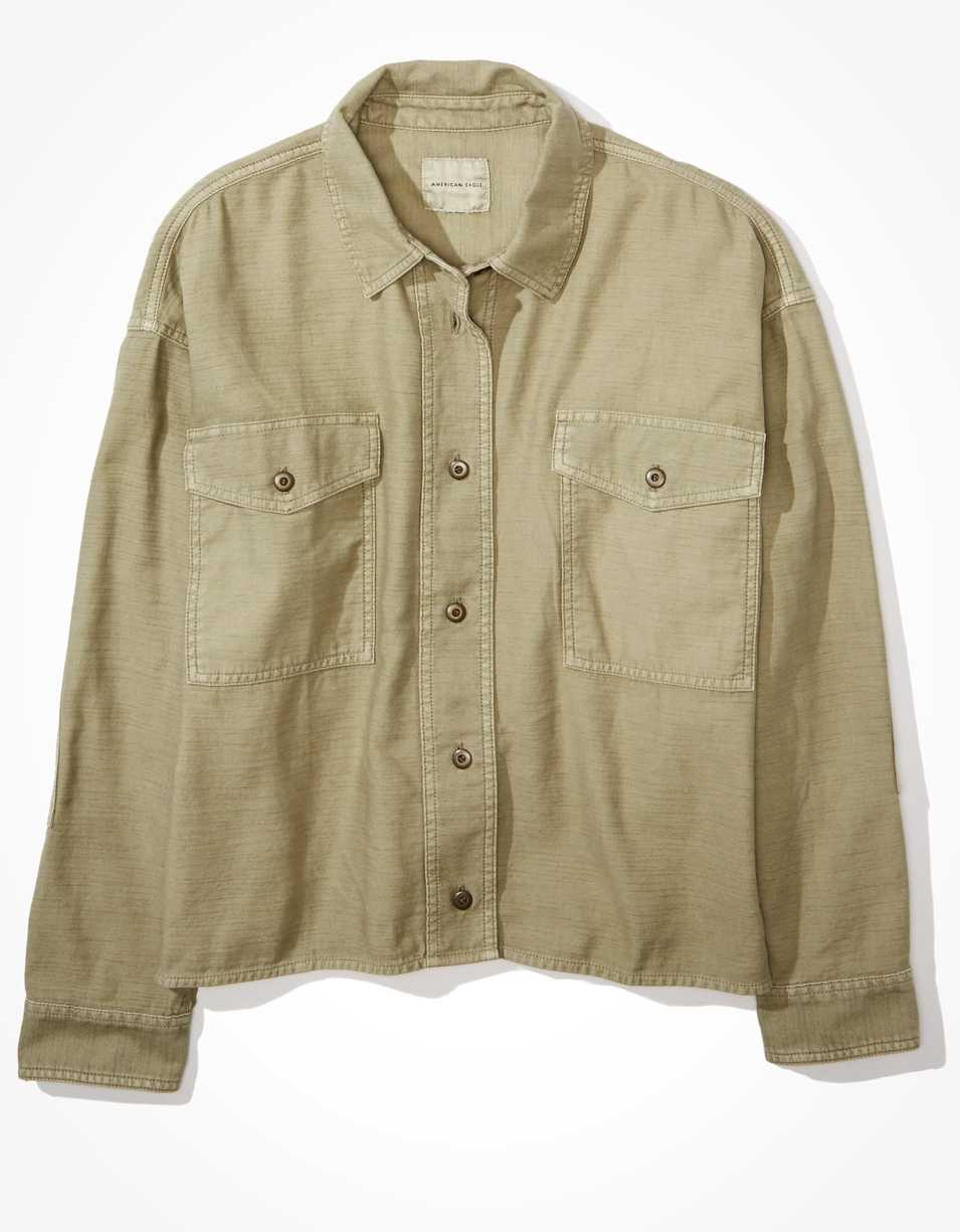 AE Button Up Shirt Jacket