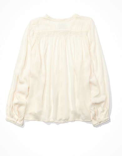AE Ruffle Sleeve Button Up Shirt