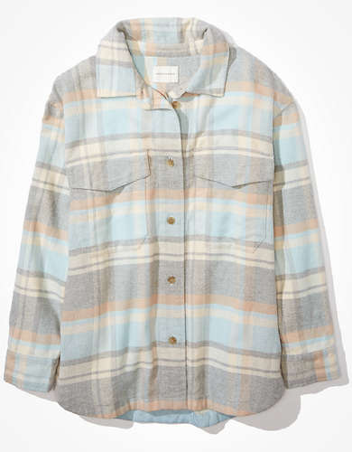 AE Oversized Button Up Shirt Jacket