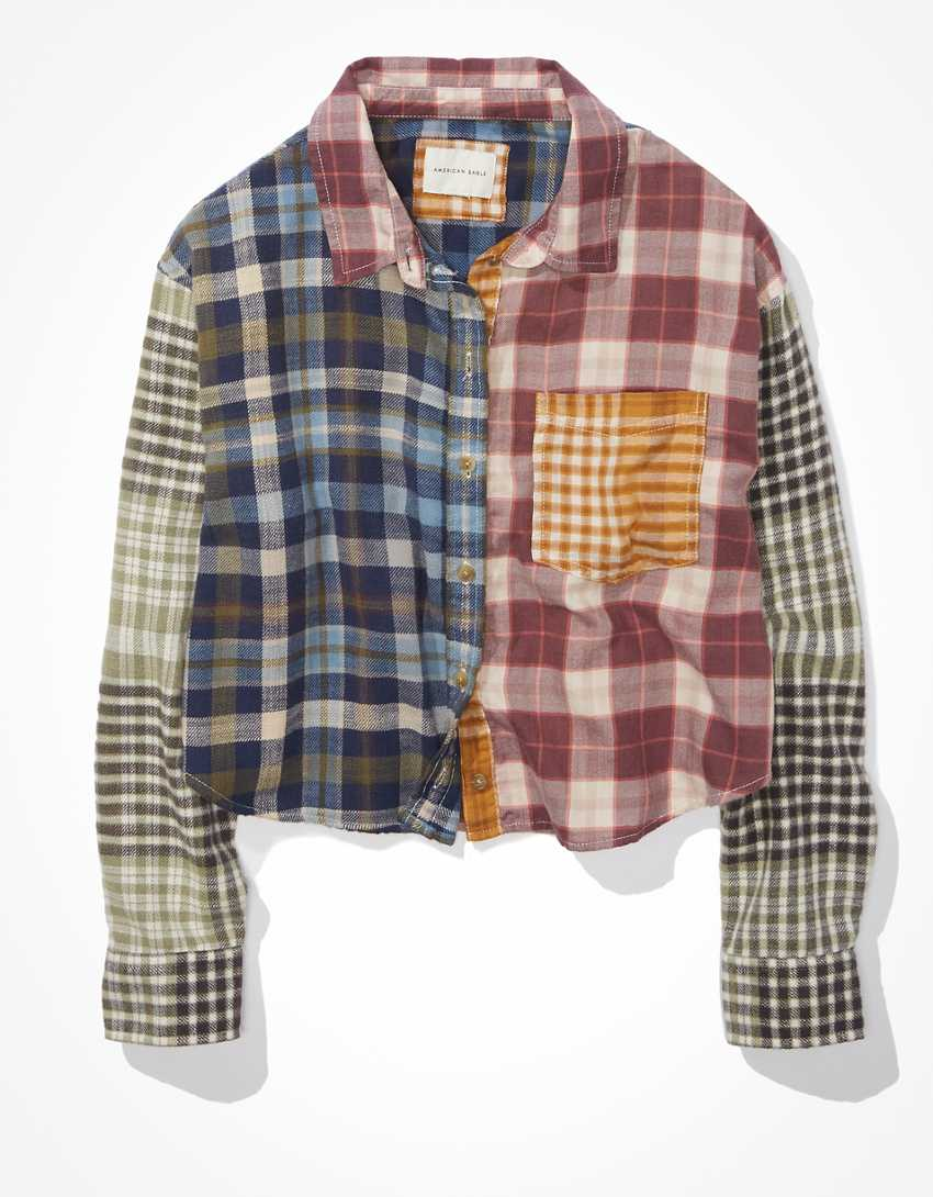AE Cozy Cabin Cropped Flannel