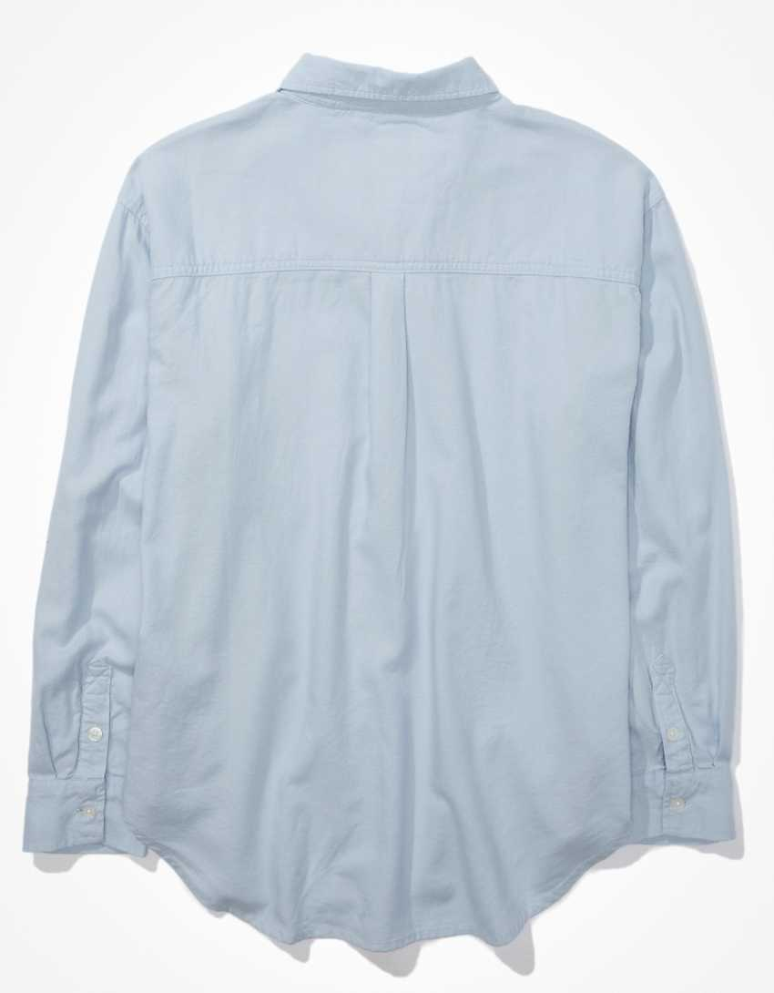 AE Oversized Oxford Button-Up Shirt