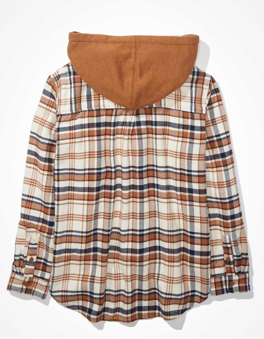 AE Cozy Cabin Flannel Hoodie
