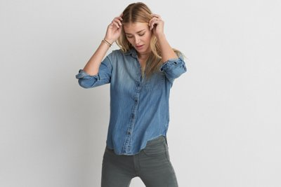Boyfriend Denim Tencel Shirt