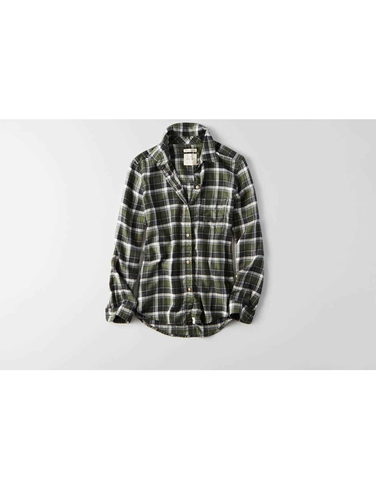 Display product reviews for AEO Ahh-mazingly Soft Long Sleeve Plaid Shirt