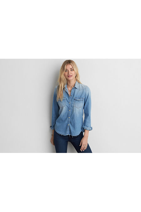 AE Slim Denim Shirt