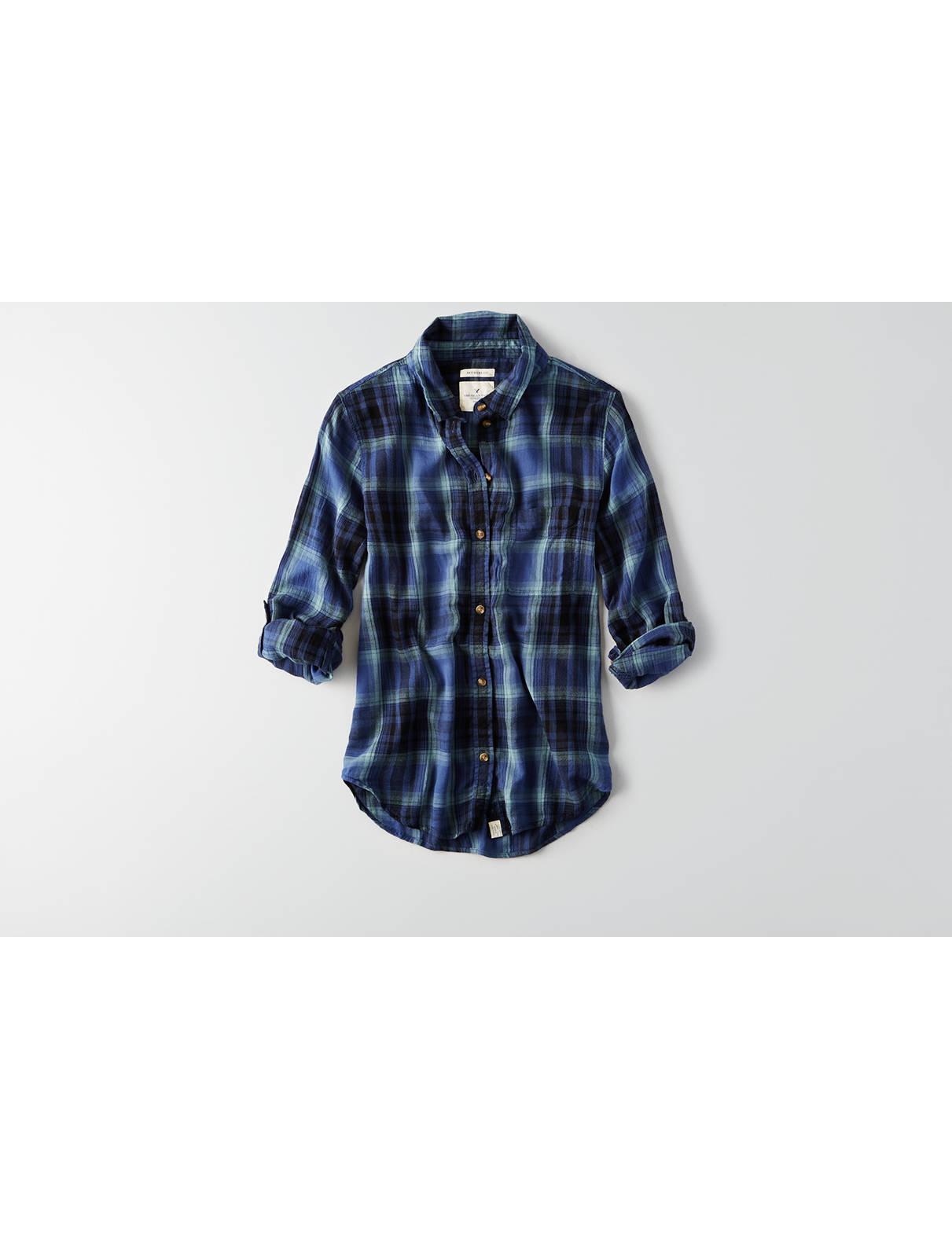 Display product reviews for AEO Boyfriend Plaid Shirt