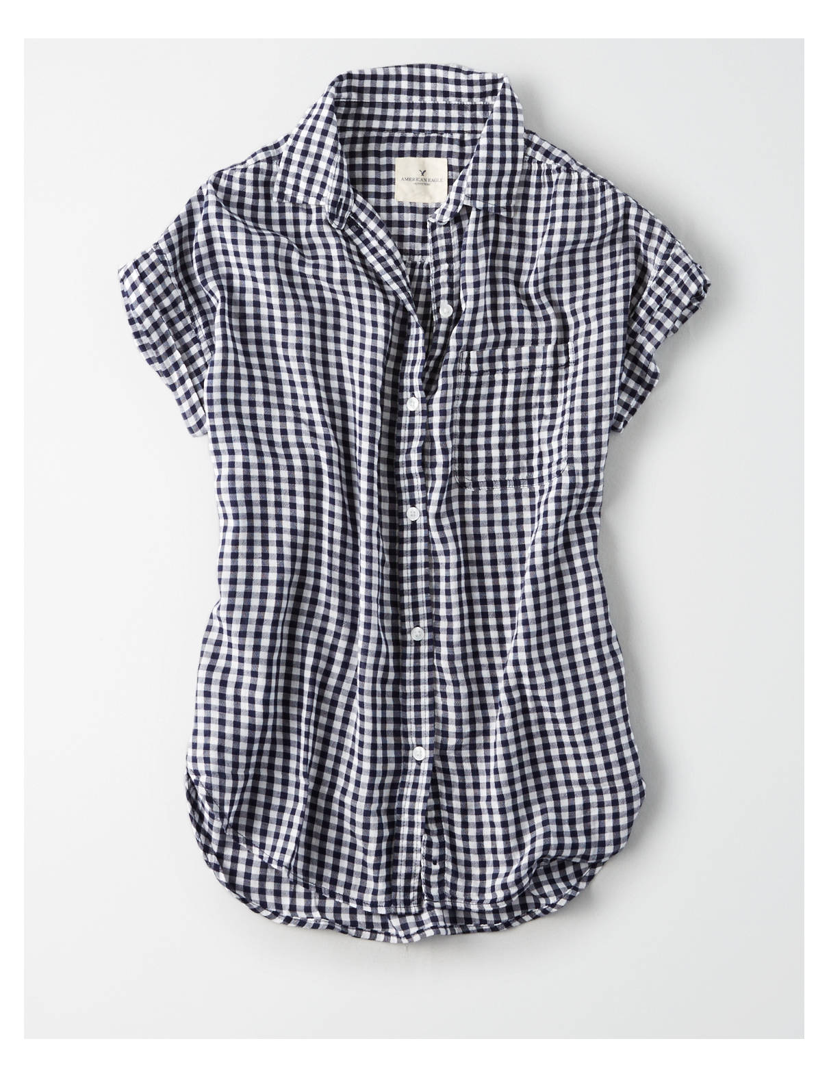 Display product reviews for AE Short Sleeve Button Down Shirt